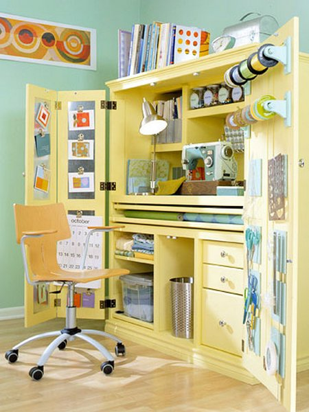 Simply beautiful craft cabinet for Mueble organizador de costura