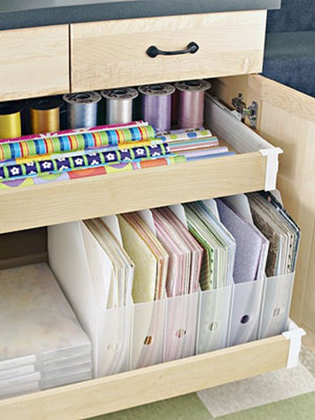 Simple scrapbooking storage ideas - Scrapbooking storage ideas for small spaces plan ...
