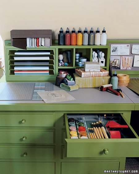 Martha Stewart Craft Room Organization