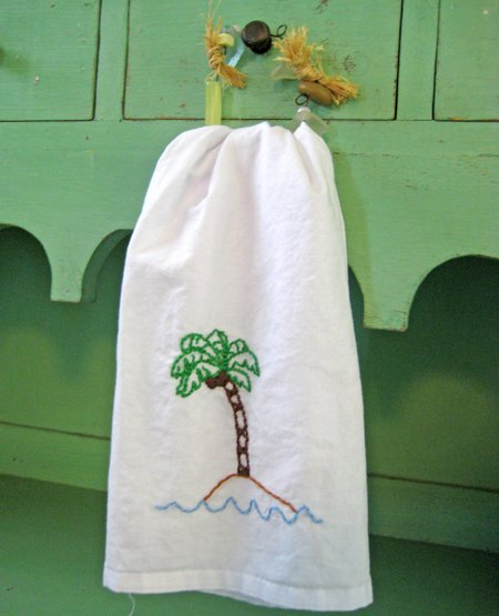 sublime tea towel palm tree