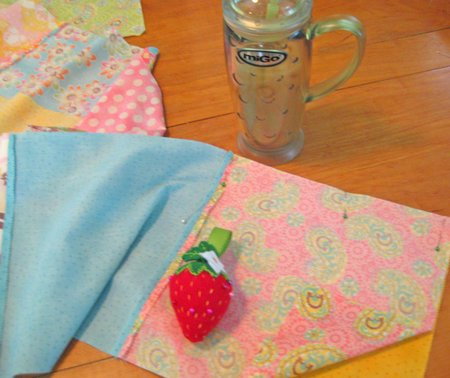 pinning quilt together