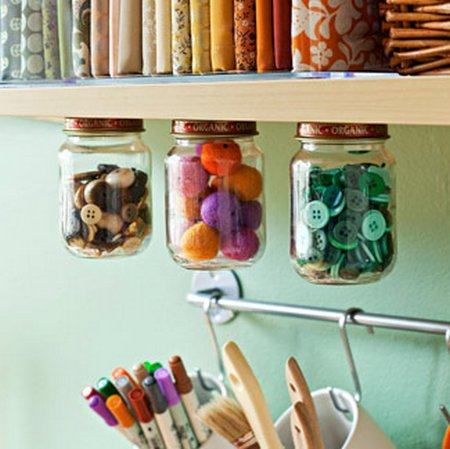 Craft Ideas Recycled on 13 Great Ways To Organize With Recycled And Repurposed Finds