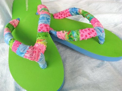 33384a90090f54 Flip Flops - Make Your Own With Fabric Scraps!  Tutorial ...