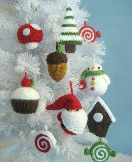 Изображение вязаные новогодние игрушки www.decor4house.ru из коллекции свяжу-сошью-распущю-распорю на сайте Пинми.ру