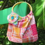 Bamboo Handle Bag {funky tutorial}