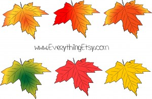 Fall Leaves Vector Graphic