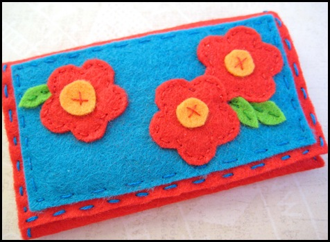felt business card holder finished