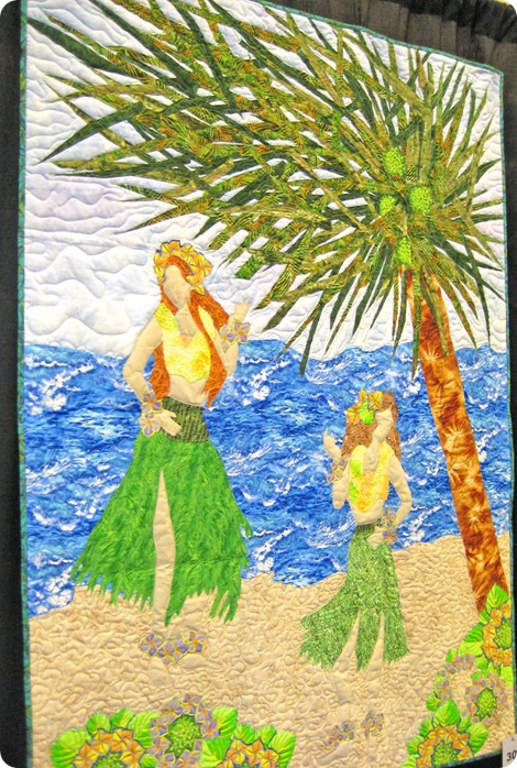 hula girl quilt