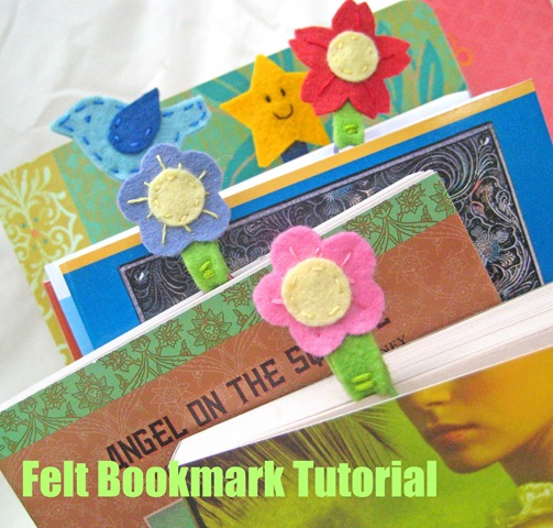 Home Made Felted Bookmarks