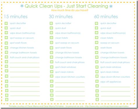 quick clean ups