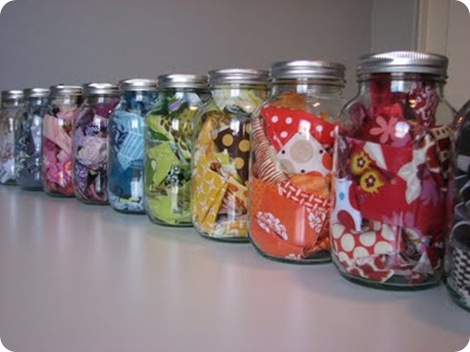 16 - fill your jars with prettiness.