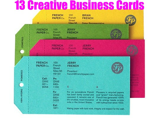 13 creative business cards everythingetsy make a great first impression with creative business cards colourmoves