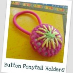 Make Button Ponytail Holders