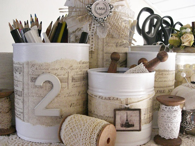 The details craft spaces - How to decorate a coffee can ...