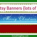 Free Holiday Etsy Banners