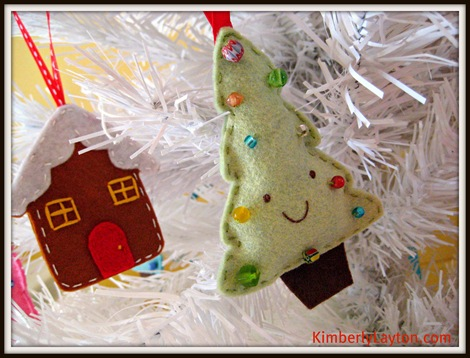 Christmas Tree and House Ornaments 1