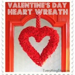 Valentine's Day Felt Heart Wreath Tutorial