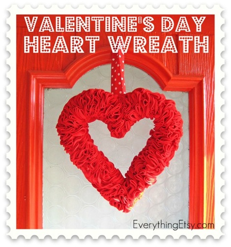 Valentine's Day Heart Wreath 1