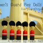 Queen's Guard Peg Dolls {Tutorial}
