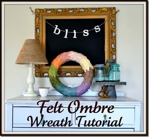 Felt Ombre Wreath Tutorial 1
