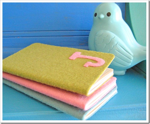 felt notebooks tutorial 2