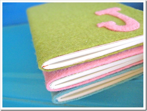 felt notebooks tutorial 3