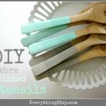 DIY Ombre Painted Utensils