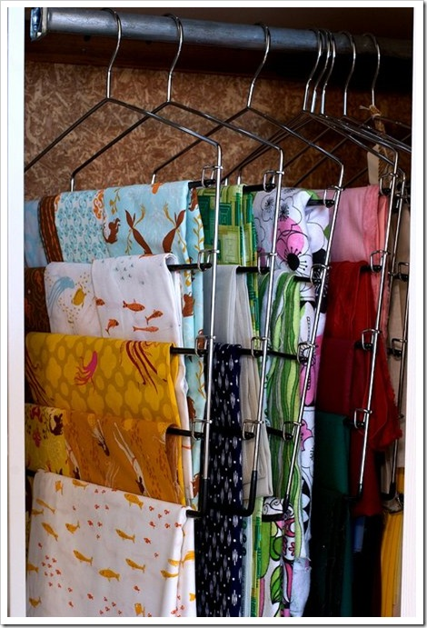 Claire 39 s details 13 ideas to organize your fabric for Fabric storage