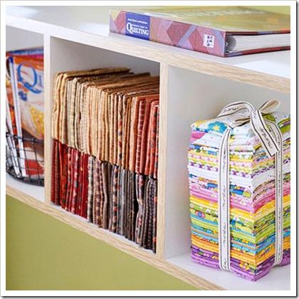 lots of fabric storage ideas organize it