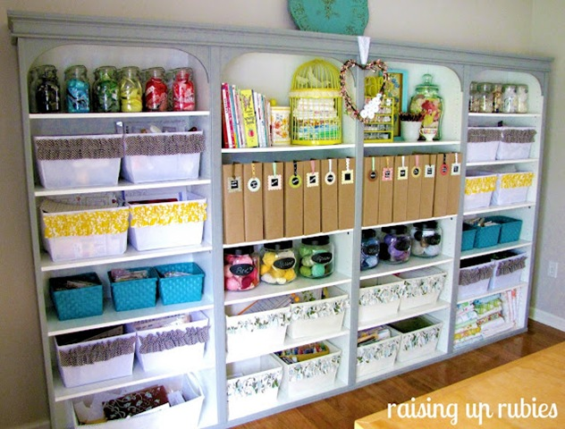 Amazing craft room raising up rubies for Craft supplies organization ideas