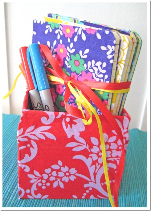 fabric covered box set