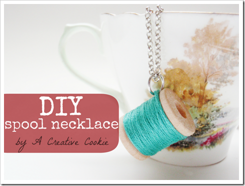 spool necklace cover