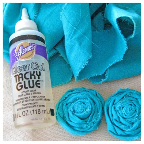 fabric rosette necklace supplies