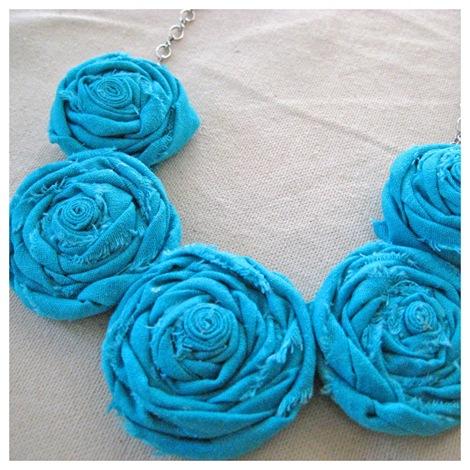 fabric rosette necklace tutorial photo