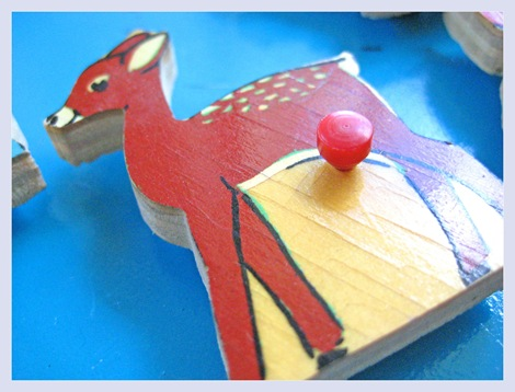 Deer Vintage Puzzle Piece Magnets - Everything Etsy 5