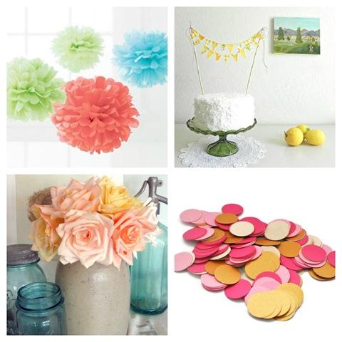 Pretty Party Decorations {Shop Etsy} - EverythingEtsy.