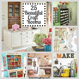 25 Beautiful Craft Rooms - Inspiration - EverythingEtsy.com
