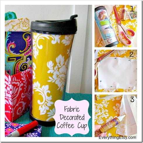 DIY Gift - Simple Fabric Cup - EverythingEtsy.com