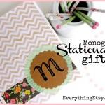 Monogram Stationery {DIY Gift}
