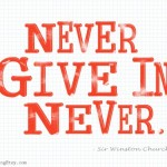 Never Give In {Etsy Business}