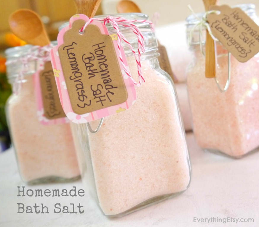 homemade bath salt diy gift