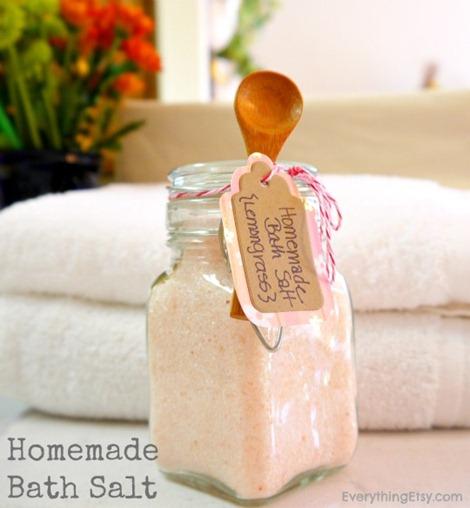 Homemade Bath Salt Tutorial - EverythingEtsy.com