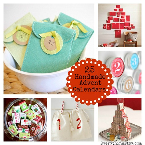 25 Handmade Advent Calendars on EverythingEtsy.com