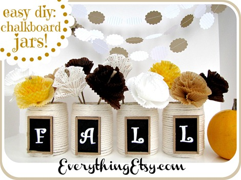 Easy DIY Fall Chalkboard Jars ~ EverythingEtsy.com
