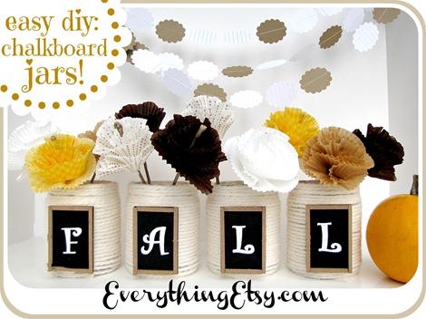 Easy DIY Fall Chalkboard Jars ~ EverythingEtsy.com