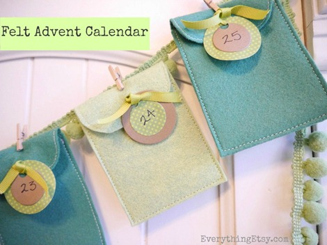 Felt Advent Calendar on EverythingEtsy.com