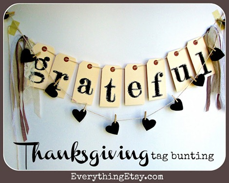 Thanksgiving tag bunting cover