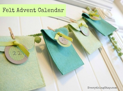 felt advent calendar tutorial on Everything Etsy