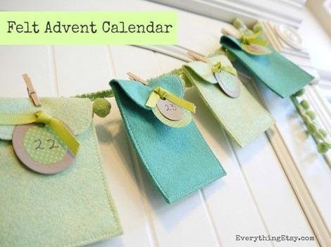 felt advent calendar tutorial on Everything Etsy