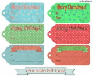 Free Holiday Gift Tag Printable from EverythingEtsy.com